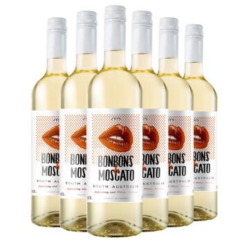 甜唇 莫斯卡托甜白葡萄酒 甜型 750ml*6 年货 整箱装 澳大利亚进口 moscato小甜水 *2件