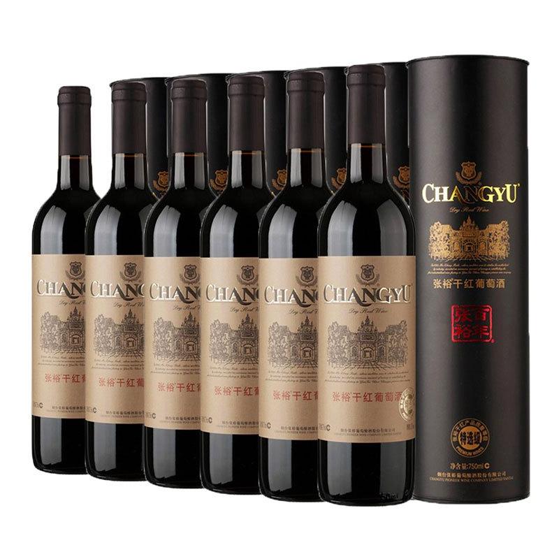 CHANGYU 张裕 特选级圆筒干红葡萄酒 750ml*6瓶