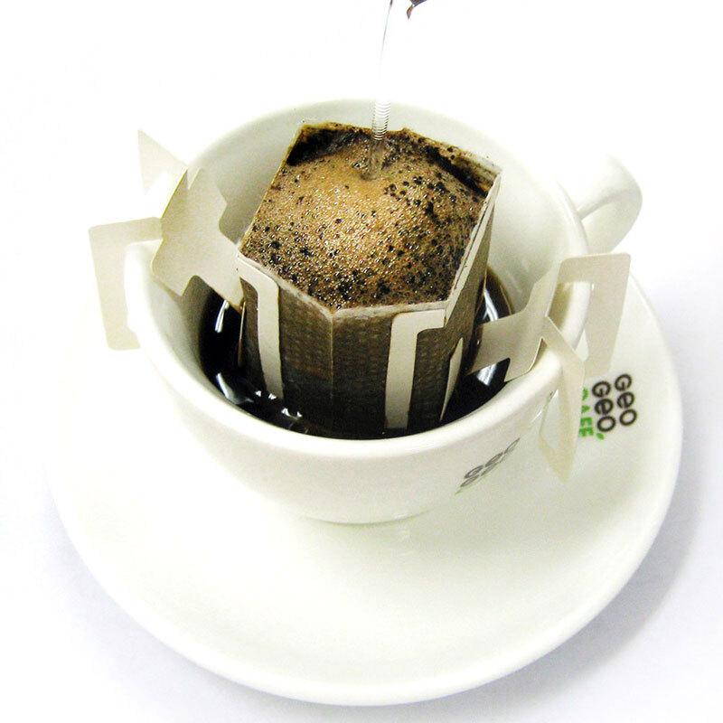 GeO GeO CAFÉ 吉意欧 GEO 滤泡式挂耳咖啡粉咖啡豆研磨纯黑咖啡粉 非速溶 蓝山口味50杯份(新老包装随机发货)