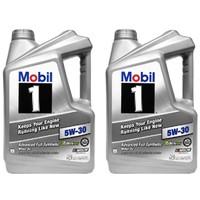 Mobil 美孚 5W-30 SN级 1号 全合成机油 5QT/4.73L 2件装