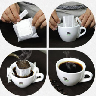 GEOGEOCAFÉ 吉意欧 中度烘焙 巴西风味 巴西挂耳咖啡粉 8g*8袋
