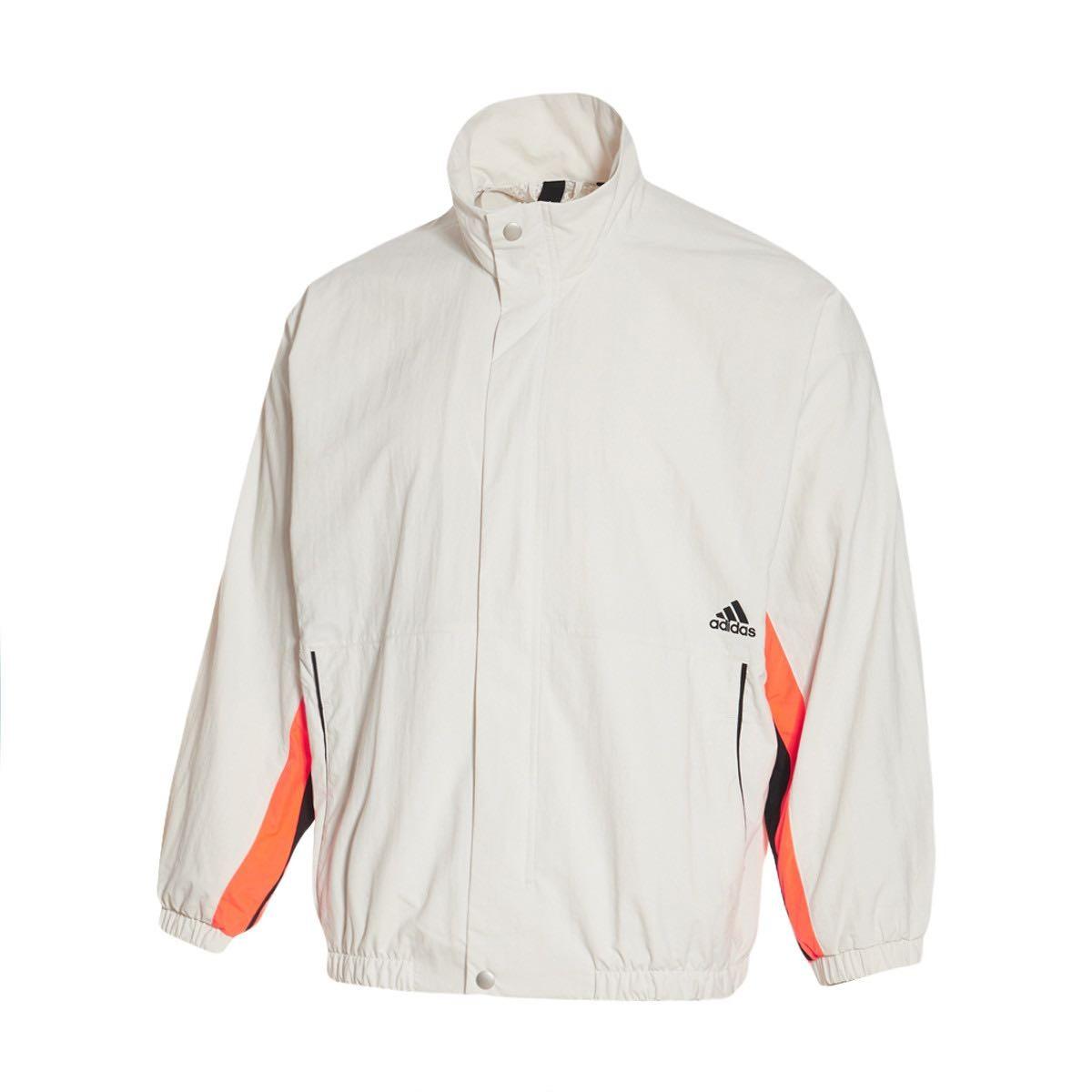 adidas 阿迪达斯 FN5672 男款夹克保暖外套 米白色 L