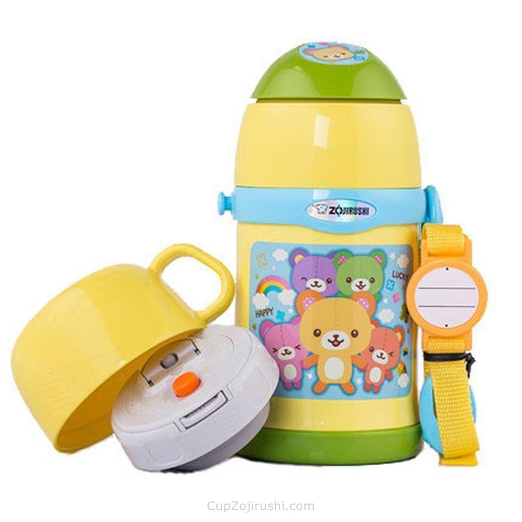 ZOJIRUSHI 象印 儿童不锈钢保温杯 450ml ZT45小熊 黄色