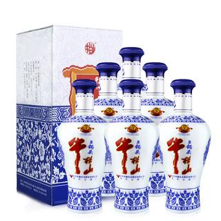 Niulanshan 牛栏山 二锅头白酒 蓝花瓷 45%vol 清香型白酒 500ml*6瓶 整箱装