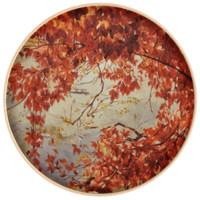 艺术品:魏盼盼限量版画 艺术品 花卉红叶 背景墙壁画 轻奢挂画