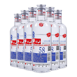 Niulanshan 牛栏山 二锅头白酒 绵柔圆玻 国际版 58%vol 清香型白酒 500ml*6瓶 整箱装