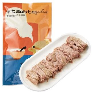 Tender Plus 天谱乐食 手撕谷饲牛肉 200g*5件 + 赠:天谱乐食 国产生牛肉早餐肠 170g*2件