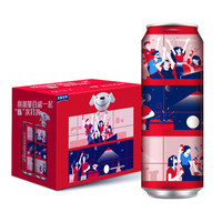 Budweiser 百威 经典拉格啤酒 限量嗨聚罐 550ml*15听 *6件