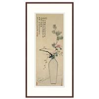 新中式客厅玄关挂画有框国画 风水花卉画 永瑢 平安如意