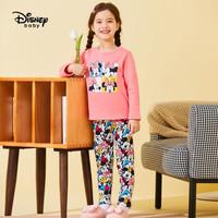 迪士尼 Disney 童裝兒童女童黃金絨長袖套裝寶寶內衣家居服兩件套2020秋冬 DB041TE01