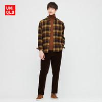 UNIQLO 431482 男士法兰绒格子衬衫