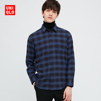 UNIQLO 431479 男士法兰绒格子衬衫