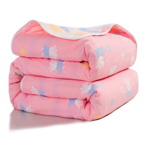 六层纱布毛巾被纯棉婴儿被子单人双人午睡毯夏季儿童小盖毯床单