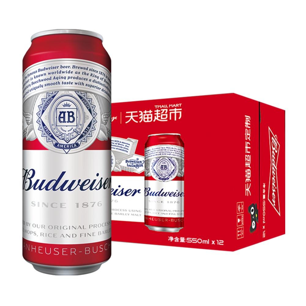 百威小麦醇正啤酒550ml*12听*2件+百威小麦醇正啤酒mini罐装255ml*24听*2件 +凑单品