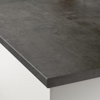 EKBACKEN宜伯肯操作台面-仿混凝土效果/层压板186x2.8厘米