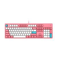FirstBlood B27 104鍵 有線機械鍵盤 熱粉色 白光 青軸