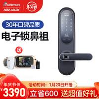 盖德曼(GateMan)原装进口 指纹锁 防盗门智能锁 家用电子锁密码门锁 盖特曼 Grab100(上门安装)