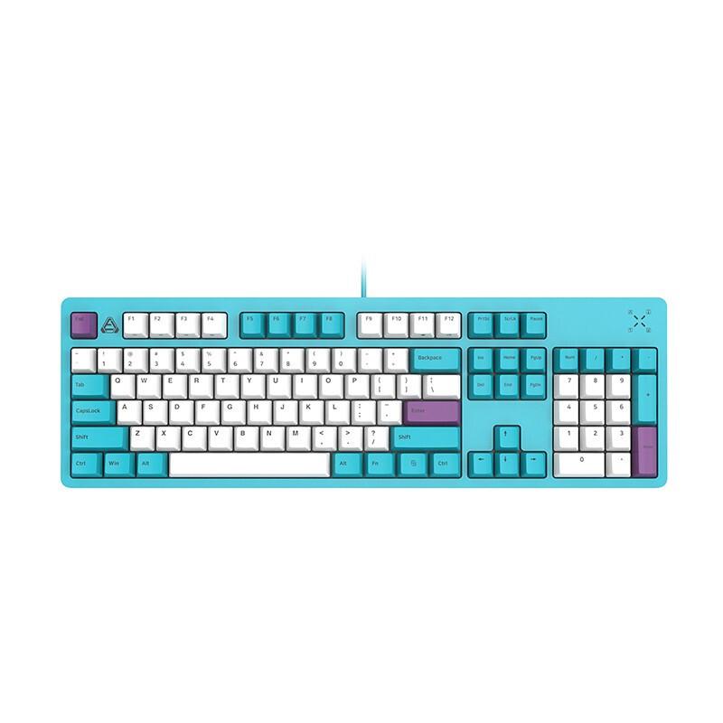 FirstBlood B27 104键 有线机械键盘 翠蓝色 白光 黑轴