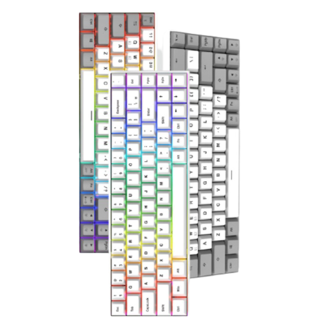 FL·ESPORTS 腹灵 F12 双模机械键盘 68键 BOX轴 单色背光