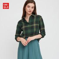 优衣库 女装 法兰绒格子衬衫(长袖) 432607 UNIQLO