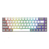 FL·ESPORTS 腹靈 F12 68鍵 雙模機械鍵盤 灰白色 RGB 茶軸