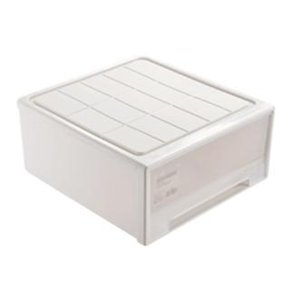 BELO 百露 百露塑料收纳箱抽屉式收纳柜塑料抽屉柜儿童衣物整理箱 加大号透明组合柜单个