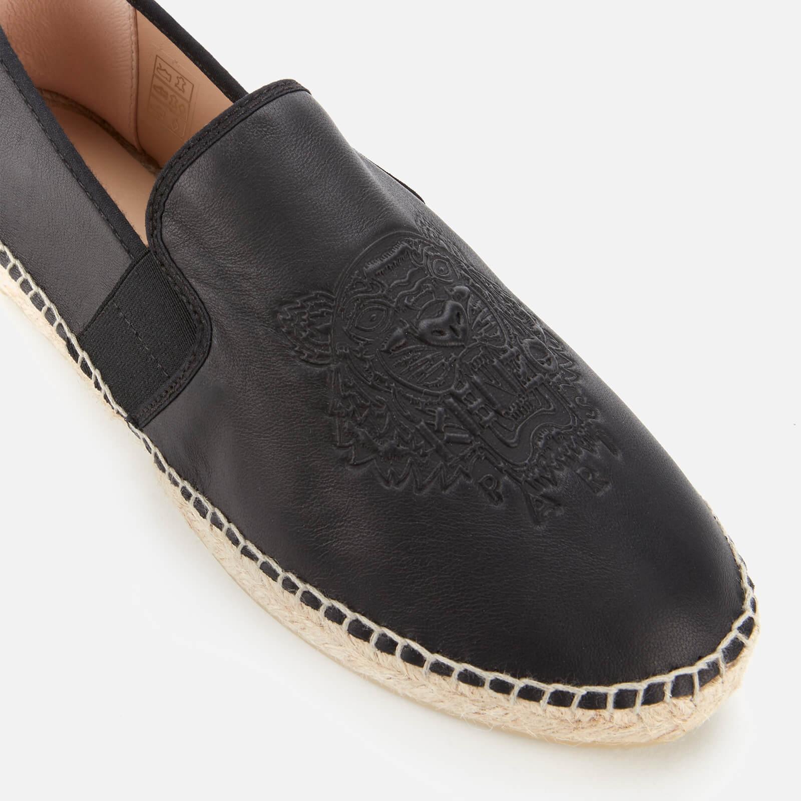 KENZO女士老虎头弹性帆布鞋-黑色