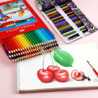 FABER-CASTELL 辉柏嘉 水溶性彩色铅笔 48色水溶纸盒+48孔彩色笔帘 内含(色卡+韩文橡皮)