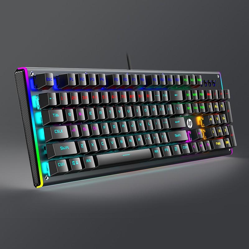 HP 惠普 GK600F 机械键盘 104键 混光茶轴