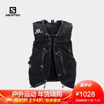 萨洛蒙(Salomon)男女款 户外运动舒适透气饮水系统越野背包 ADV SKIN 12 SET 黑色 C13065 M