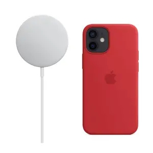 Apple MagSafe无线充电器+ iPhone 12mini 原装Magsafe硅胶保护壳套装