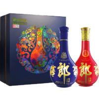 LANGJIU 郎酒 炉火纯青礼盒(青花郎+红花郎15)酱香型白酒53度 500ml*2瓶装