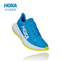 HOKA ONE ONE男卡奔X2竞速公路跑步鞋 Carbon X2减震透气运动鞋新品 深海蓝 / 柑橘黄  9 /270mm