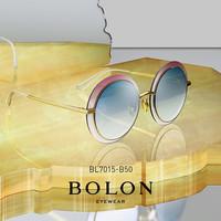 BOLON暴龙圆形金属板材框太阳镜女潮流墨镜个性复古眼镜BL7015(BL7015A11)