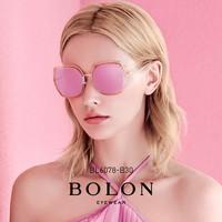 BOLON暴龙新款偏光明星同款TR板材墨镜女潮流太阳眼镜BL6078(BL6078C70)