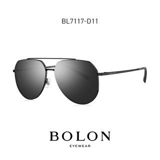 BOLON暴龙眼镜太阳镜飞行员框蛤蟆镜开车驾驶墨镜BL7117(BL7117C10)