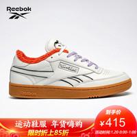 Reebok锐步 猫和老鼠 CLUB C REVENGE男女低帮休闲鞋 H05220_白色/黑色 42