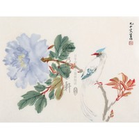 【朵云轩木版水印】商笙伯 富贵长寿 中国画装饰画收藏馈赠家居