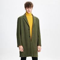 Trendiano 3GC334759P520 男款羊毛中长翻领毛呢大衣外套
