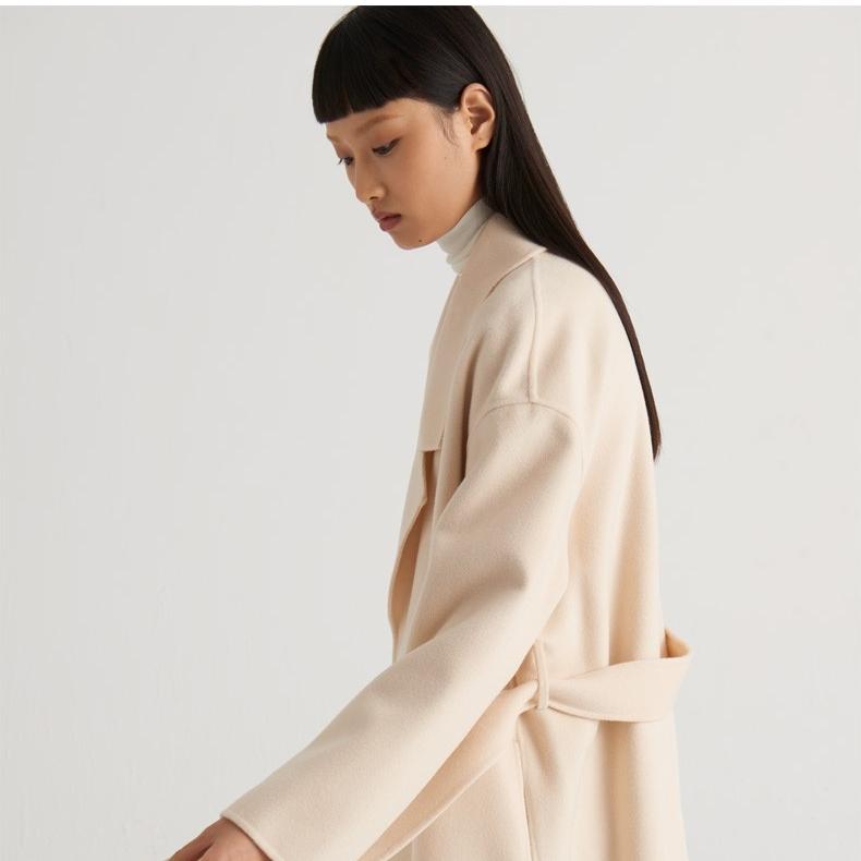 COS 0931564002 女装系带羊毛大衣