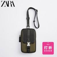 ZARA男包卡其绿色尼龙手机套腰包斜挎包13932620032