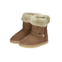 MIKIHOUSE防滑保暖雪地靴冬季绒面中筒童鞋儿童棉鞋