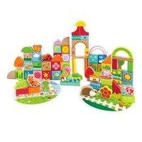 京东PLUS会员:Hape 积木玩具 80粒 E8312 宝宝花园积木 *2件