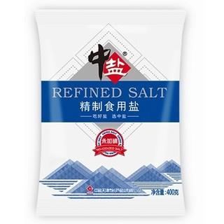 聚划算百亿补贴 : 中盐 精制食用盐 未加碘 400g*6包