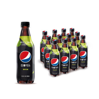 京东PLUS会员、限地区 : Pepsi 百事可乐 无糖 碳酸饮料 青柠味 汽水 中胶瓶 500ml*12瓶  *2件