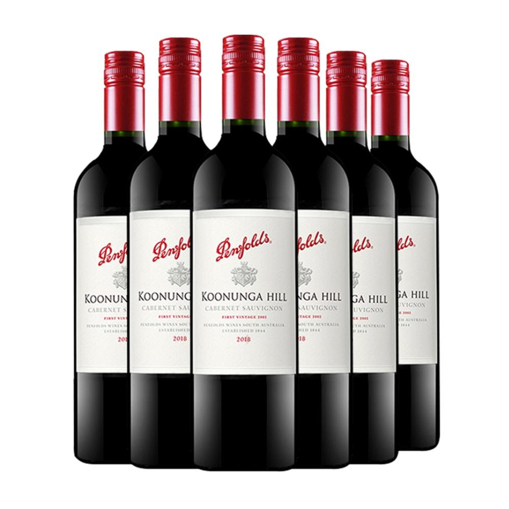 奔富 寇兰山西拉 赤霞珠干红葡萄酒 750ml*6瓶