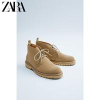 ZARA 15019002102 男士反绒皮靴