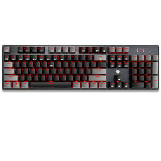 HEXGEARS 黑峡谷 GK715 有线机械键盘 104键 红轴 单光 黑灰