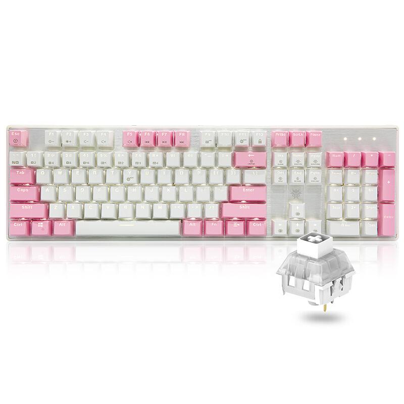 HEXGEARS 黑峡谷 GK715 104键 有线机械键盘 凯华BOX白轴 单光