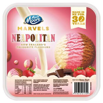 MUCHMOORE 玛琪摩尔  那不勒斯三色冰淇淋  2000ml *3件